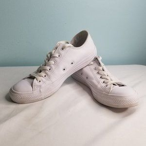 CONVERSE all white low top sneakers